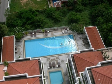 large communal pool close aminities modern apartment