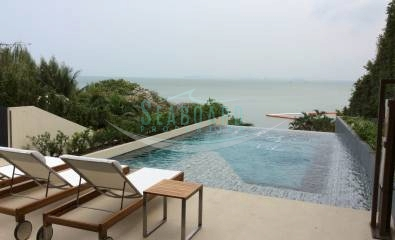 terrace swimming pool condominium one bedroom for rent baan plai haad wongamat beach