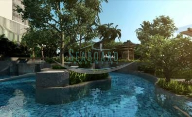 spacious swimming pool apartment the riviera wongamat for sale pattaya agency