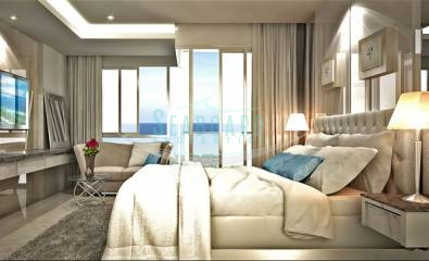 king size bed Serenity Wongamat Condominium For Sale in Wongamat Beach By Seaboard Properties Pattaya